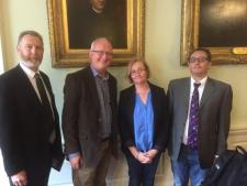 At launch of IFUT TUI report on 'Creating a s Supporting  Working Environment for Academics in Higher Education' were Aidan Kenny, John Walshe, Marie Clarke and Andrew Loxley.