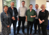Left to Right:  Fiona Lee, Dr Michael Hinds (DCU), Dr John Walshe (TCD), Dr Grainne Healy, Frank Jones and  Dr Angela Flynn (UCC) and IFUT President
